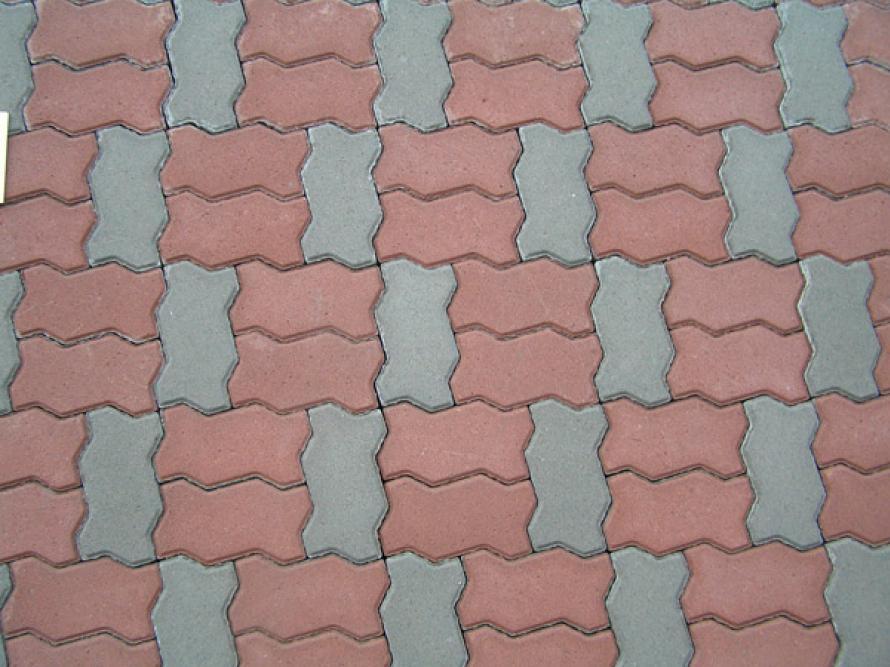 варианты укладки тротуарной плитки змейка
